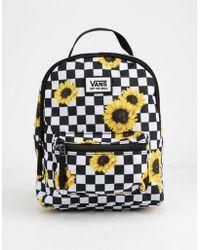 4f95b471453 Vans Realm Backpack in Black - Lyst