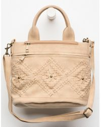 Chateau - Maddy Tan Mini Satchel Bag - Lyst