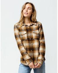 6d903219d17 Lyst - Rip Curl  zarca  Plaid Flannel Shirt