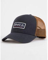 89f2a908ec07f Lyst - Rvca Ticket Trucker Hat in Blue for Men