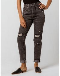 Volcom - Super Stoned Womens Ripped Skinny Jeans - Lyst