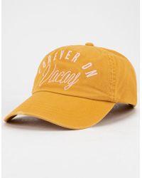 4b859062e12 Script Cap White  Black.  43. Footshop · Billabong - Surf Club Mustard  Womens Dad Hat - Lyst