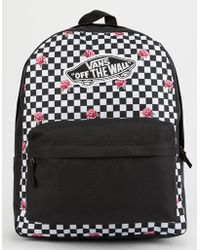 Vans - Realm Rose Checkerboard Backpack - Lyst