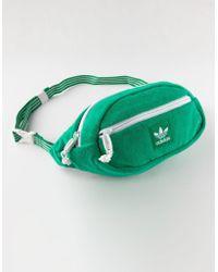 adidas - Originals Terry Waist Green Fanny Pack - Lyst