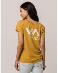 RVCA - Va Ink Womens Pocket Tee - Lyst