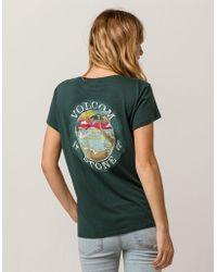 Volcom - Beach Brews Womens Tee - Lyst