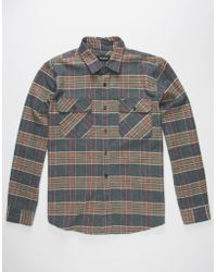 Brixton - Bowery Mens Flannel Shirt - Lyst