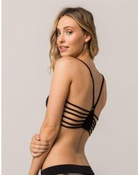 Say What? - ? Cage Back Black Bralette - Lyst