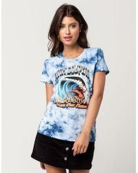 Pink Dolphin - Wave Fire Womens Tee - Lyst
