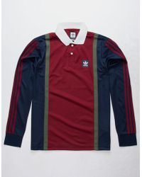adidas - Color Block Mens Rugby Jersey - Lyst