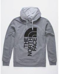 The North Face - Trivert Heather Gray Mens Hoodie - Lyst