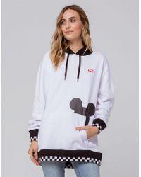 Vans - Mickey's 90th Checkerboard Mickey Fleece (white/black) Women's Fleece - Lyst