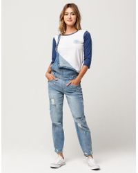 Almost Famous - Premium Destructed Womens Overalls - Lyst