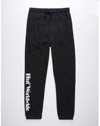 Huf - Issue Black Mens Sweatpants - Lyst