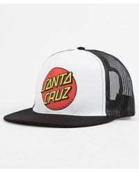 Santa Cruz - Classic Dot White Mens Trucker Hat - Lyst 79d2134e0df5