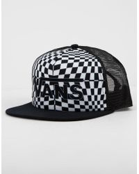 ed209d15d496e Lyst - Vans Lawn Party Womens Trucker Hat in Black