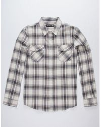 Retrofit - Shane Mens Flannel Shirt - Lyst