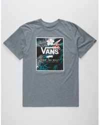 1ac4526ffe Vans - Peace Out Floral Print Mens T-shirt - Lyst