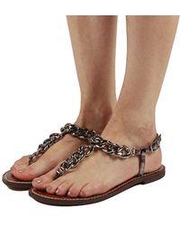 0798aff77e687 Lyst - Sam Edelman Pewter Ginger Embellished Gladiator Sandals in ...