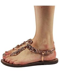 28089ab236aa18 Lyst - Sam Edelman Tallulah Buckle Leather Sandals in Brown