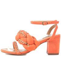 Cape Robbin - Carrie-23 Orange High Heels - Lyst