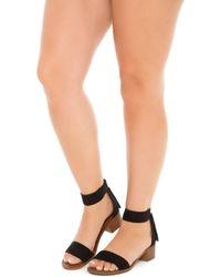 ca1e101c615f67 Lyst - Steve Madden  darcie  Ankle Strap Sandal in Black