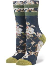 Stance | Blossom Wall Navy | Lyst