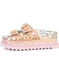 Irregular Choice | Artemis Pink Strappy Platform Sandals | Lyst