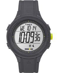 Timex - Watch Unisex Ironman Essential 30 Silicone Strap Gray/gray/digital - Lyst