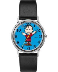 Timex - X Peanuts Exclusively For Todd Snyder 34mm Leather Strap Watch - Lyst