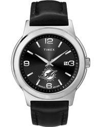 Timex Watch Ace Miami Dolphins Silver-tone/black