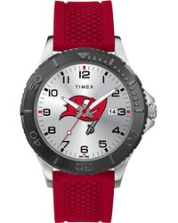 Timex - Watch Gamer Red Tampa Bay Buccaneers Silver-tone/red/silver-tone - Lyst