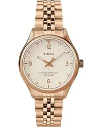 Timex Watch Waterbury Traditional 34mm Stainless Steel Bracelet Rose Gold-tone/rose Gold-tone/cream