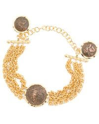 Tj Maxx | Made In Italy Gold Plated Byzantine Coin Bracelet | Lyst
