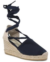 Tj Maxx - Made In Spain Lace Espadrille Wedges - Lyst