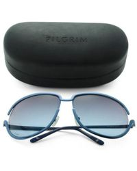 d6aed3d2bf8fb Lyst - Tj Maxx Polarized Unsinkable Lotus Sunglasses With Case in Blue