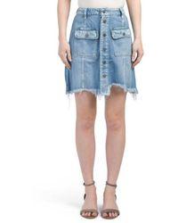 Tj Maxx - Made In Usa Distressed Denim Skirt - Lyst
