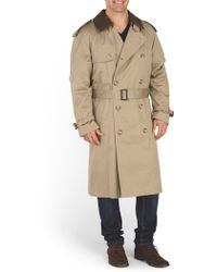 Tj Maxx - Detachable Wool Collar Trench Coat - Lyst