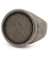 Tj Maxx - Men's Flat Top Oxidized Stainless Steel Ring - Lyst