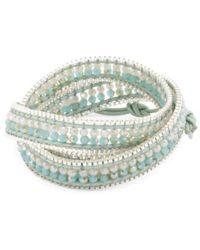 Tj Maxx - Made In Thailand Czech Crystal Leather Wrap Bracelet - Lyst