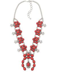 Tj Maxx - Red Coral Squash Blossom Necklace - Lyst