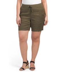 Tj Maxx - Plus Candice Linen Shorts - Lyst