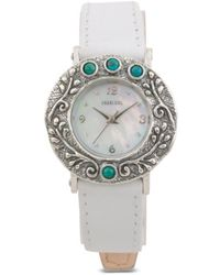 Tj Maxx   Women's Made In Israel Sterling Silver Turquoise Leather Watch   Lyst