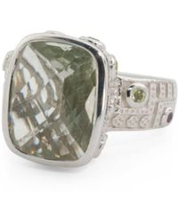 Tj Maxx - Made In India Sterling Silver Green Amethyst Ring - Lyst
