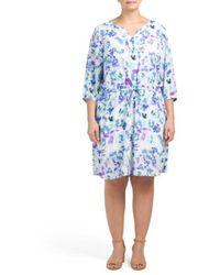 7f4346672bea Tj Maxx - Plus Alexa Ikat Printed Dress - Lyst