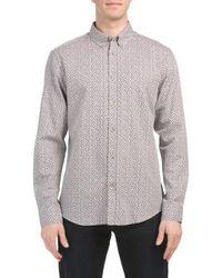 Tj Maxx - Micro Twill Floral Shirt - Lyst