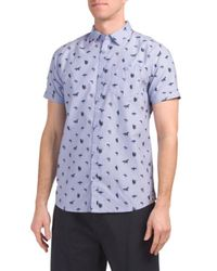 Tj Maxx - Short Sleeve Surfer Print Oxford Shirt - Lyst