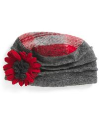 Tj Maxx - Made In Italy Plaid Crown Wool Hat - Lyst
