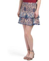 Tj Maxx - Printed Smocked Skirt - Lyst