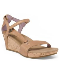 Tj Maxx - Comfort Leather Wedge Sandals - Lyst